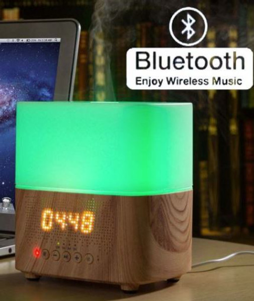 Electric Aromatherapy Colour Changing Diffuser MELODY BLUETOOTH MUSIC CLOCK