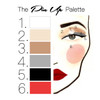 Pin Up Makeup Face Chart