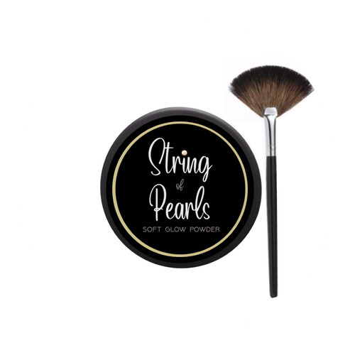 String of Pearls Compact powder and fan brush