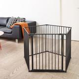 BabyDan Room Divider XXL Black 90-360cm + Wall Fittings Product Image 4