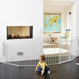 BabyDan Room Divider XXL White 90-360cm + Wall Fittings Product Image 5