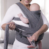 Boppy Comfyfit Baby Carrier Grey side knot