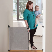 Dreambaby Retractable Stair Gate - Grey open