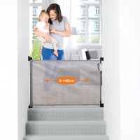 Dreambaby Retractable Stair Gate Grey size