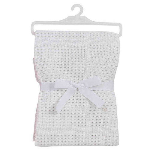 BabyDan Cotton Cellular Blanket - White