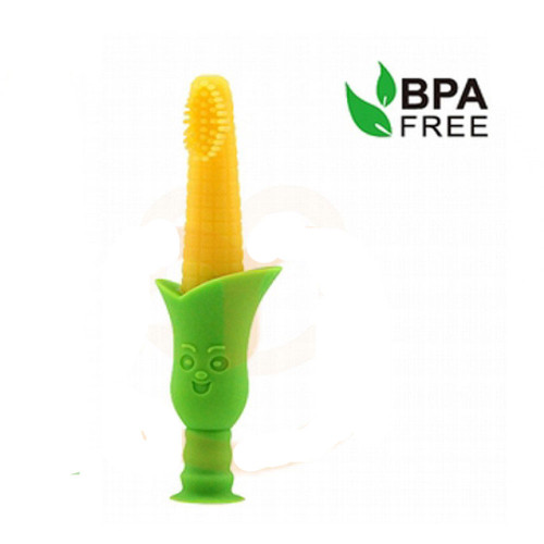 Haakaa Silicone Teething Toothbrush with Suction Stand Main Image