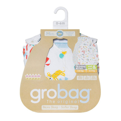"The Gro Company - ""Roll Up"" Wash & Wear Grobag 1 Tog Twin Pk"
