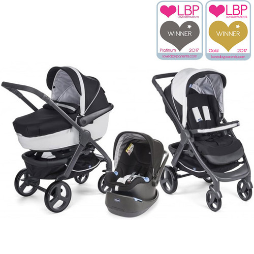 Chicco Trio StyleGo Travel System - Black Night Main Image