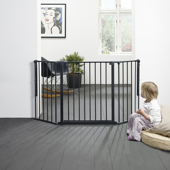 BabyDan Configure Flex Gate Medium - Black (90-146 cm)