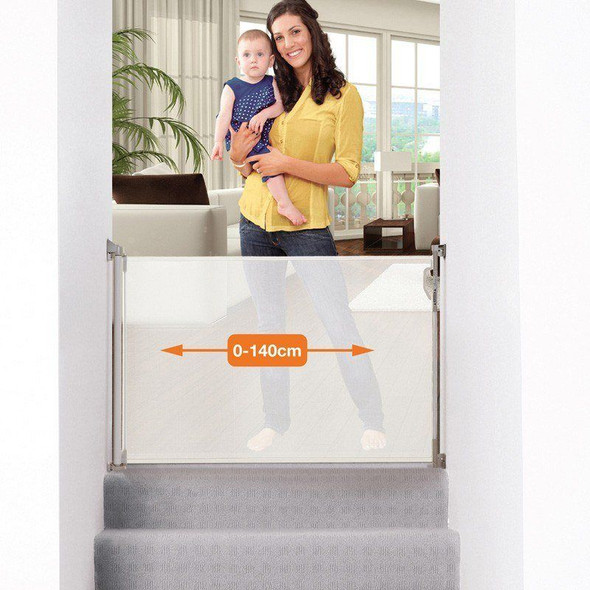 Dreambaby Retractable Stair Gate white size