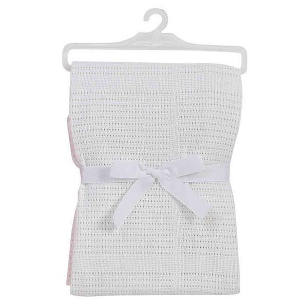 BabyDan Cotton Cellular Blanket - White