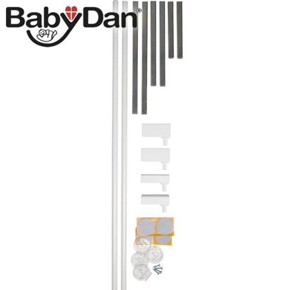 BabyDan Standard Extend-A-Gate Kit - White (2 x 7 cm) Babydan image 2