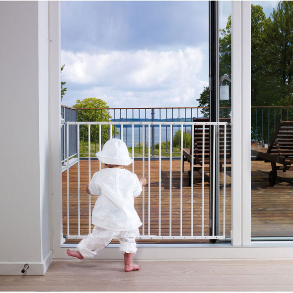 BabyDan Multidan Metal Safety Gate - White (W 62.5-106.8 cm) Babydan image 2