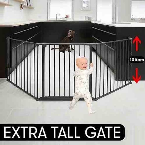 BabyDan Extra Tall (105 cm) Configure/Hearth Gate - Black Main Image
