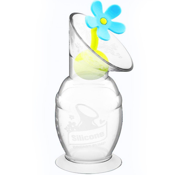 Haakaa Silicone Breast Pump Flower Stopper - Blue Haakaa image 2