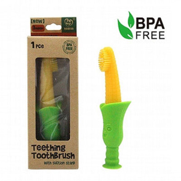 Haakaa Silicone Teething Toothbrush with Suction Stand Haakaa image 2