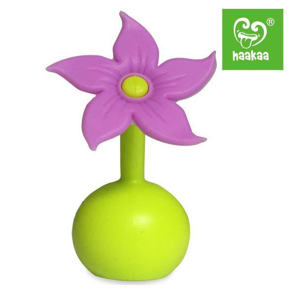 Haakaa Silicone Breast Pump Flower Stopper - Purple Main Image