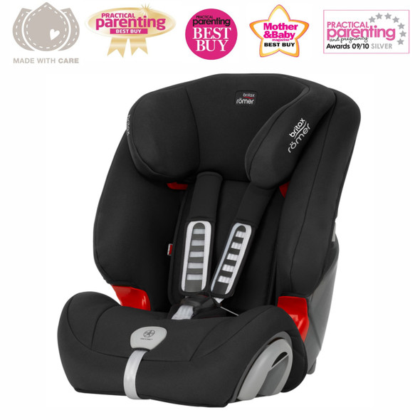 Britax Romer Evolva 1-2-3 Plus Black (9 Mnts - 12 Yrs) Main Image