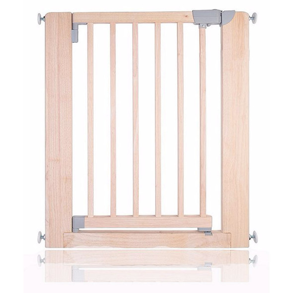 Safetots Chunky Wooden Pressure Fit Stair Gate Natural 74cm-81cm Main Image