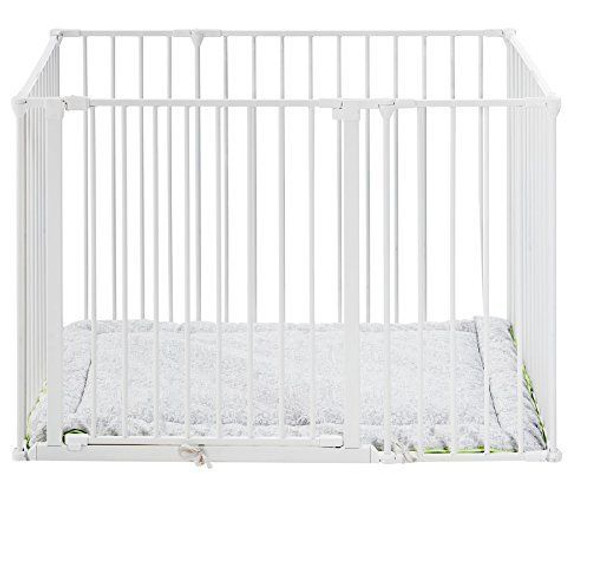 Babydan Square Playpen / Park-A-Kid with Urban Playmat - White Main Image