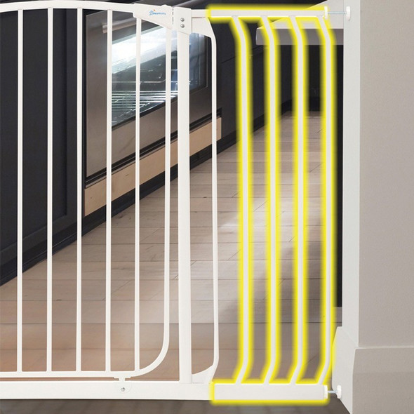 Dreambaby Chelsea 27cm Wide Gate Extension (White)  live