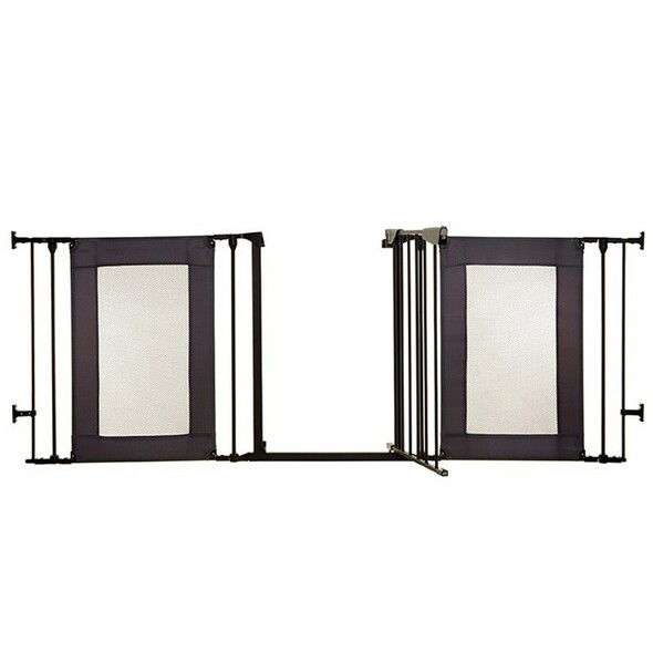 Dreambaby Denver Adapta Gate - Black Metal with Grey Mesh Panels product