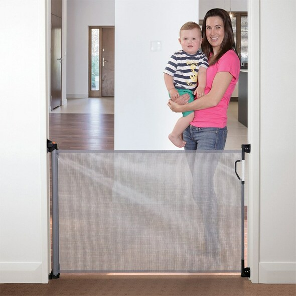 Dreambaby Retractable Stair Gate - Grey