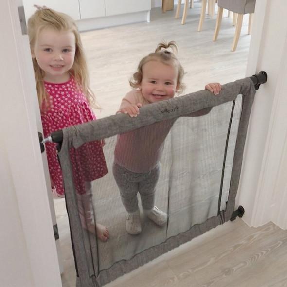 Safetots Secure Fabric Gate Grey kids