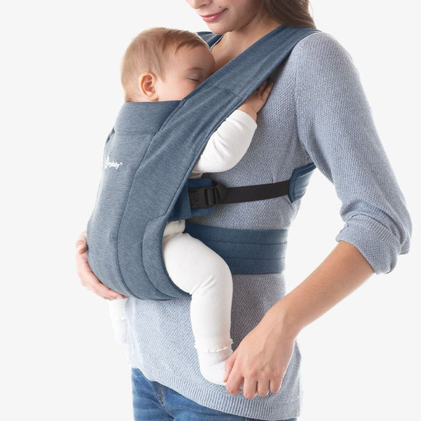 Ergobaby Embrace From Newborn - Oxford Blue live