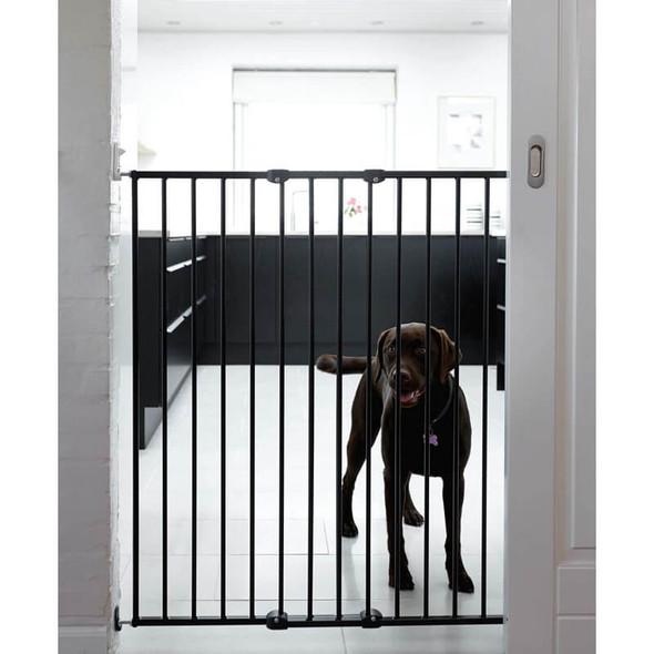 Babydan Extra Tall Extending Metal Pet Gate, Black (62.5cm) Live