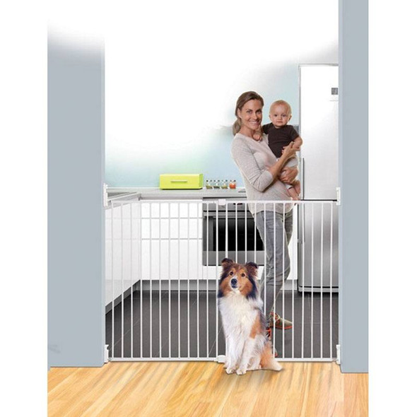 Dreambaby Broadway Gro-Gate Extra Tall & Extra Wide - White (Fits Gaps 76cm - 134.5cm)