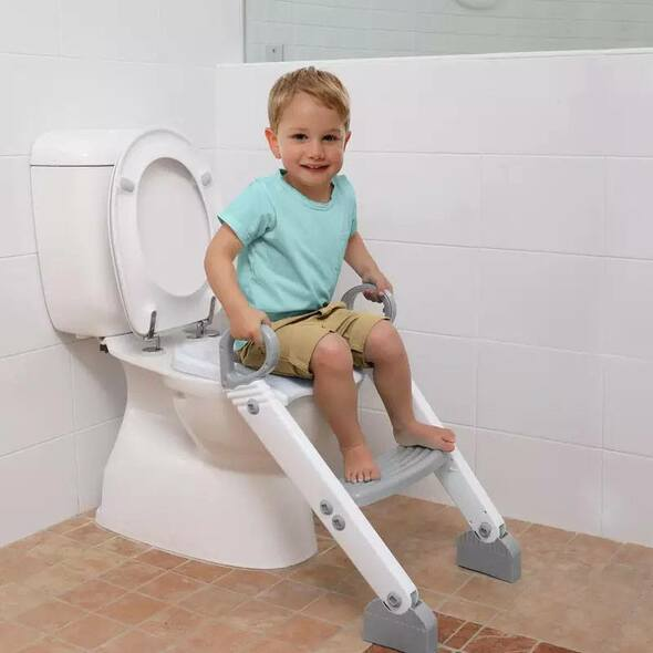 Dreambaby Ladder Step-Up Toilet Trainer (Grey/White)