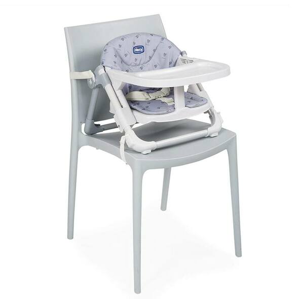 Chicco Chairy Booster Seat Bunny (Grey) seat fastened