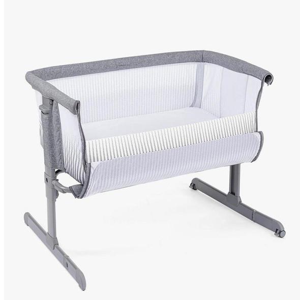 Chicco Next2Me Air Side Sleeping Crib Titanium open
