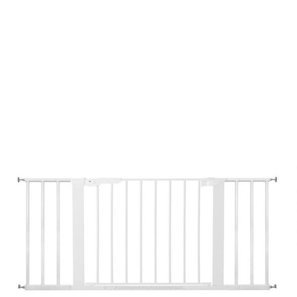 BabyDan Premier Pressure Indicator Gate, White (73.5cm - 118.6cm)| BabySafety.ie
