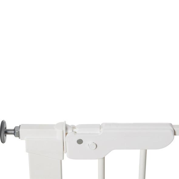 BabyDan Premier Pressure Indicator Gate, White (73.5cm - 105.6cm) latch close| BabySafety.ie
