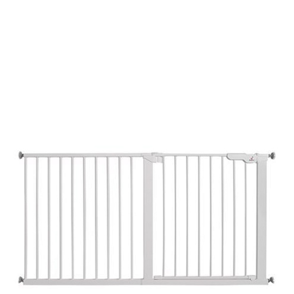BabyDan Premier Pressure Indicator Gate, White (73.5cm - 151.7cm)| BabySafety.ie