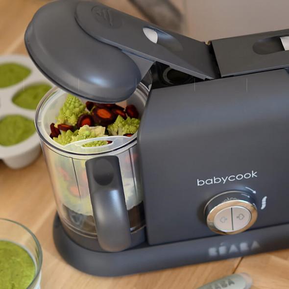 Beaba Babycook Duo Baby Food Steamer Blender - Dark Grey Live