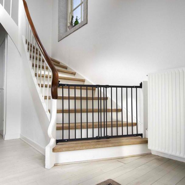 BabyDan Flexi Fit Metal Stair Gate - Black (67-105.5 cm)