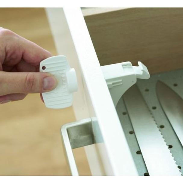 InHealth  Adhesive Magnetic Locks (4 Locks, 1 Magentic Key) Main Image