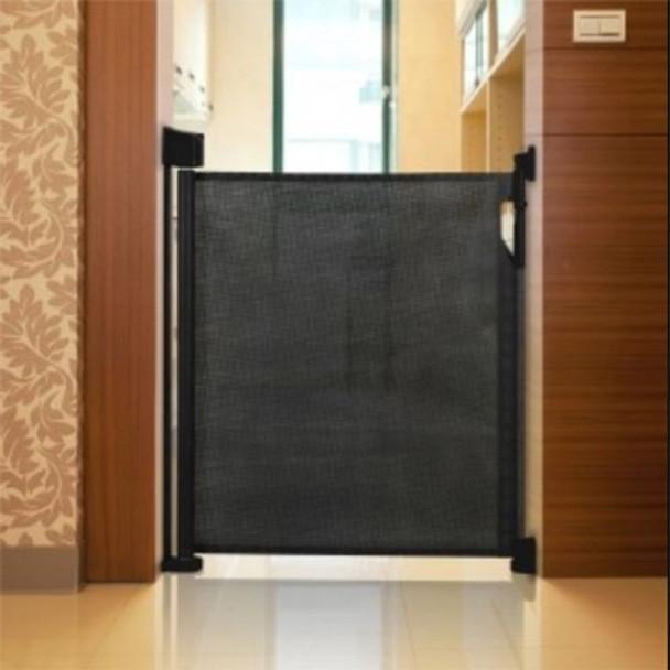 Safetots Advanced Retractable Safety Gate Black Main Image