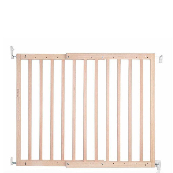 Safetots Chunky Wooden Screw Fit Stair Gate Natural 63.5cm-105.5cm