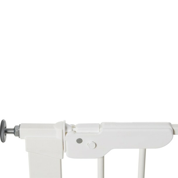 BabyDan Premier Pressure Indicator Gate, White (73.5cm - 105.6cm) latch closed | BabySafety.ie
