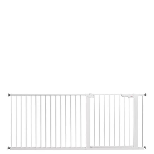 BabyDan Premier Pressure Indicator Gate, White (73.5cm - 182.5cm)| BabySafety.ie