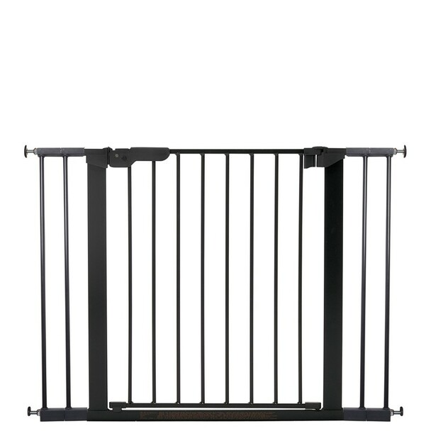 BabyDan Premier Pressure Indicator Gate, Black (73.5cm - 105.6cm) | BabySafety.ie