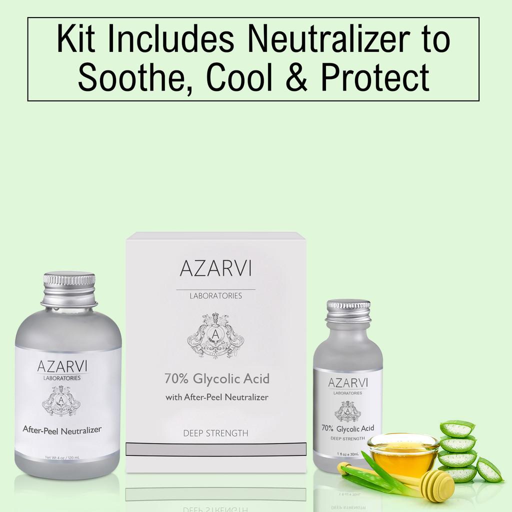 Azarvi 70% Glycolic Chemical Peel with Neutralizer
