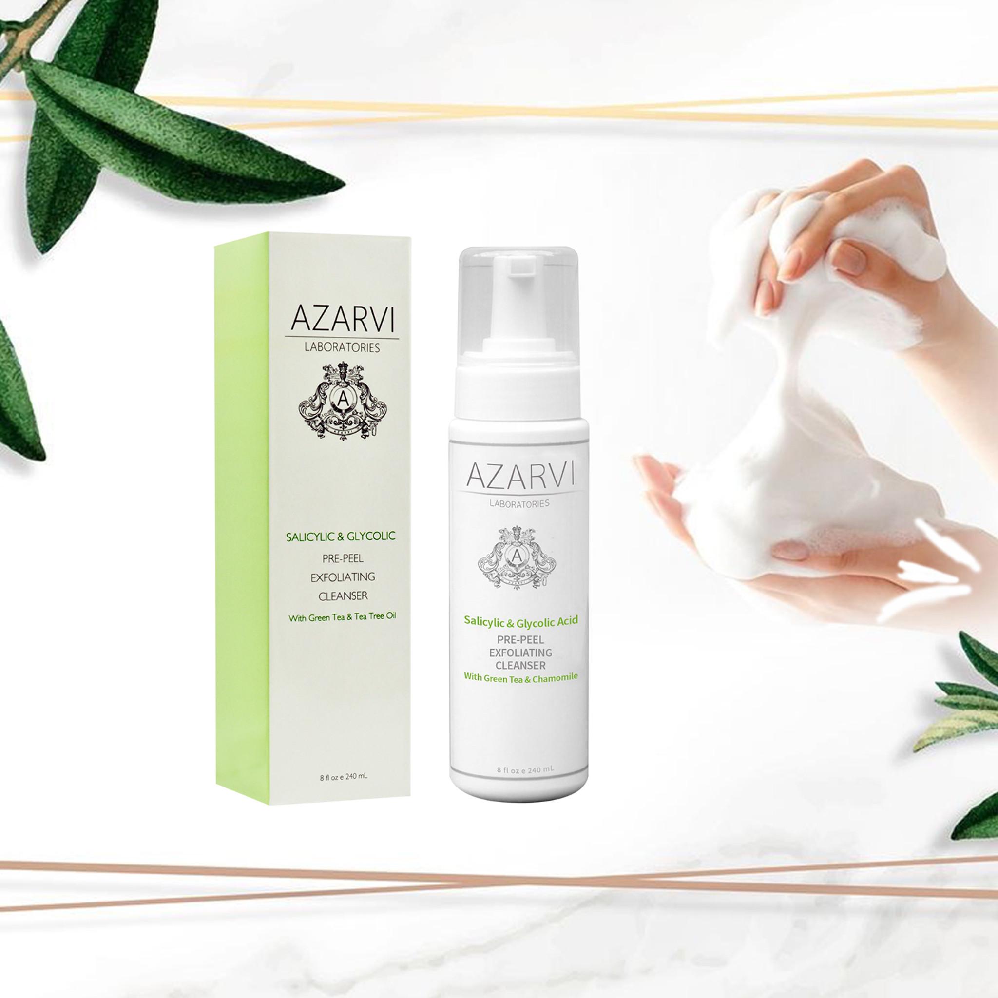 Azarvi Salicylic & Glycolic Acid Pre-Peel Exfoliating Cleanser