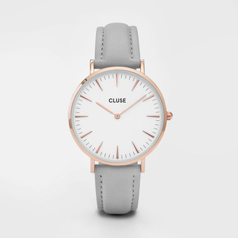 Cluse Boho Chic Rose Gold White/Grey Watch