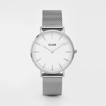 Cluse Boho Chic Mesh Silver/White Watch CW0101201002