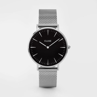 Cluse Boho Chic Mesh Silver/Black Watch CW0101201004